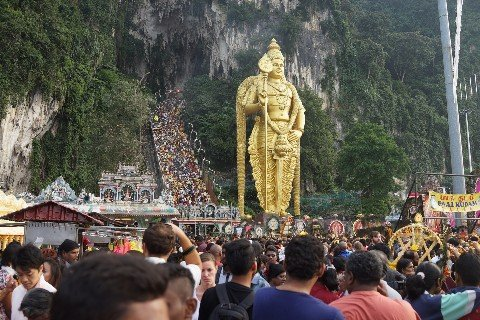 Statue of Lord Murugan at the Batu Caves