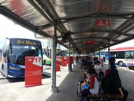 Bus platforms at Butterworth Station