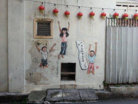 Children jumping - Lorong Panglima