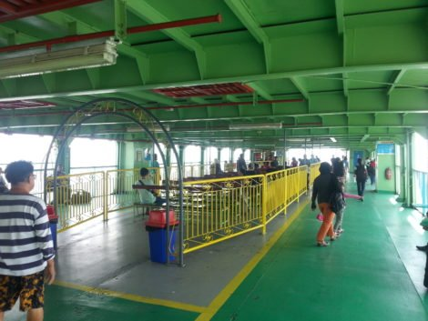 Passenger Deck on the Ferry to Penang