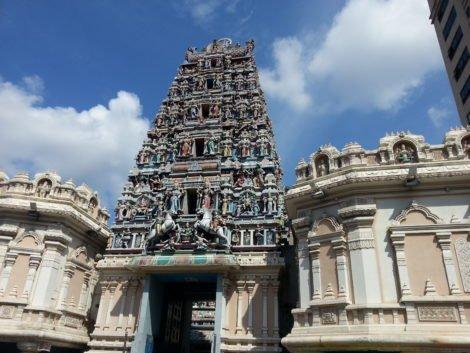 Raja Gopuram tower at Sri Mahamariamman Temple