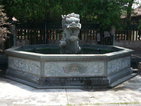 Dragon water fountain at Ipoh Tai Pak Koong Temple