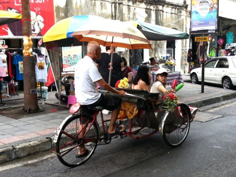 Same Trishaw this time with customers