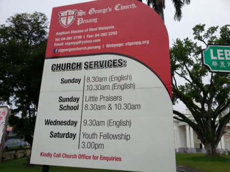 St George's Church has twice weekly services in English