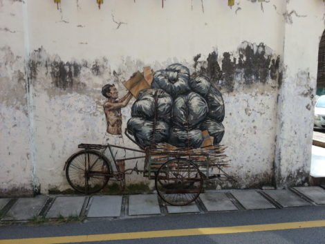 There is some fantastic street art in Ipoh