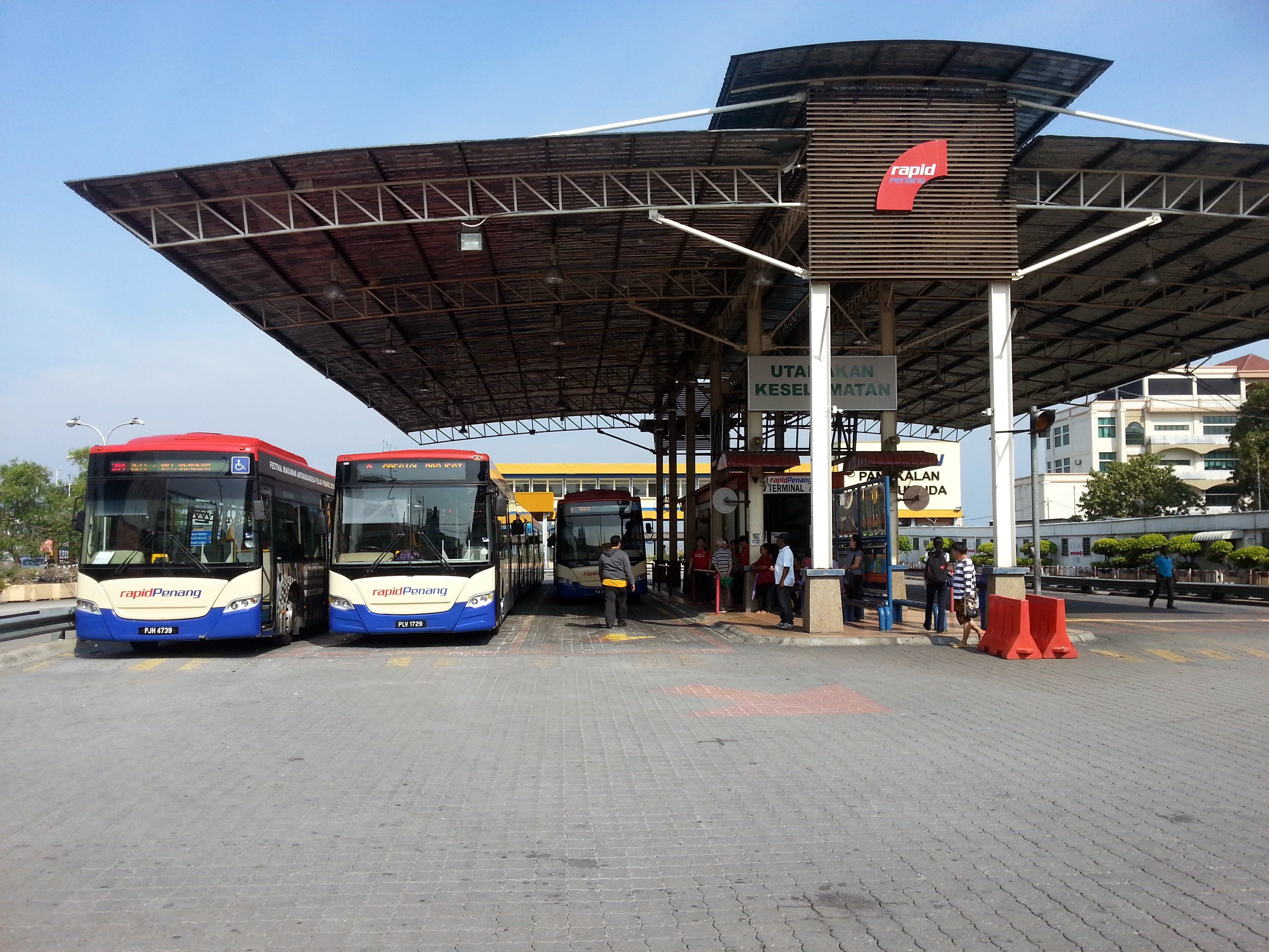 Bus terminal at George Town Ferry Port