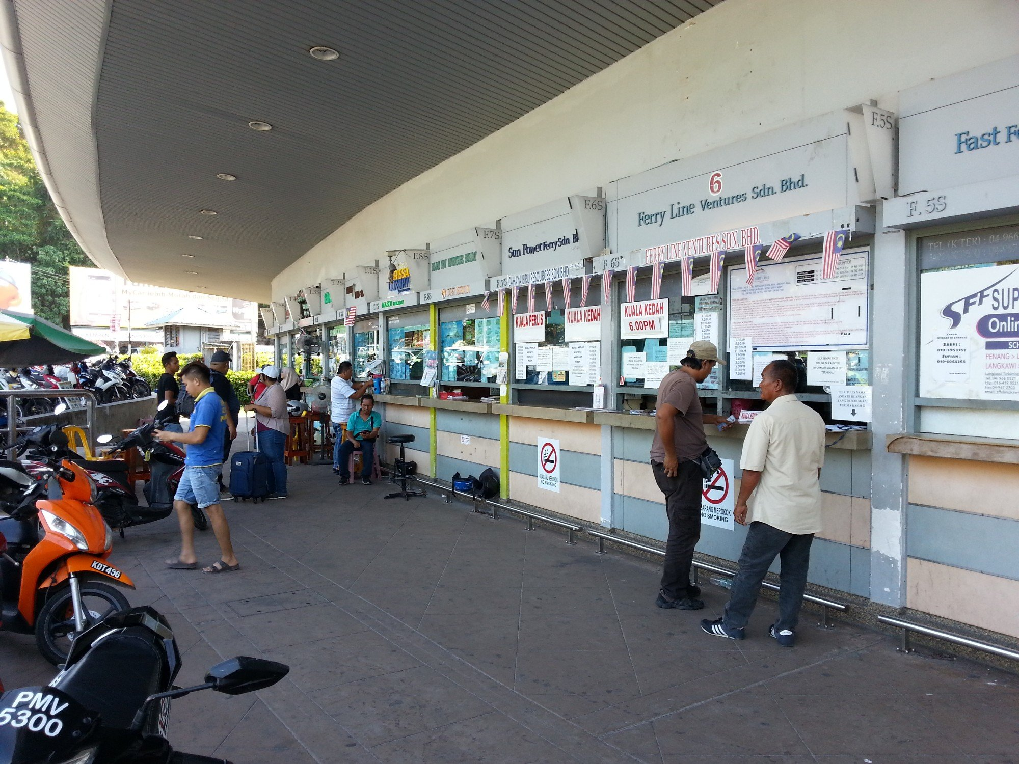 Ticket Offices at Kuah Jetty