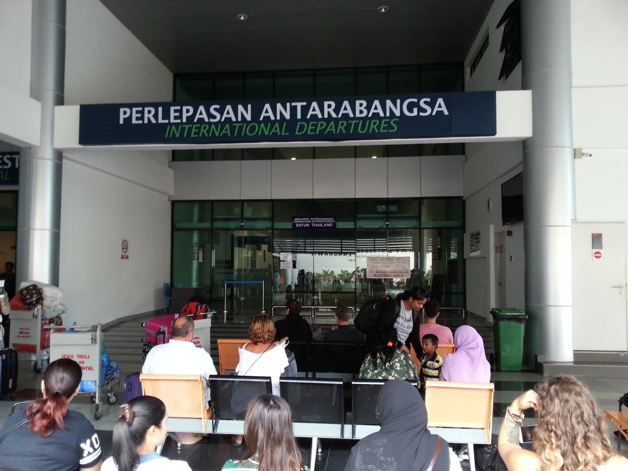 Waiting area at Kuah Jetty